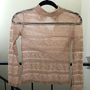 ZARA pink lace top